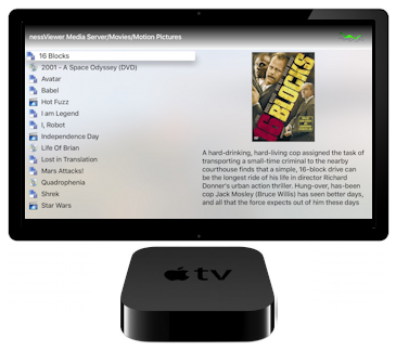 nessMediaCenter on Apple TV